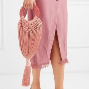 Cult Gaia Small Angelou Woven Bag in Mauve